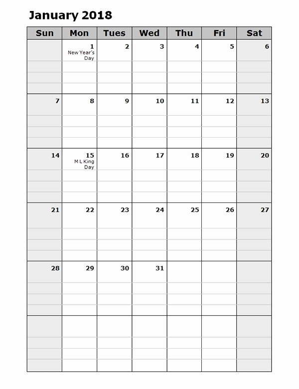 Free Printable Daily Calendar 2018 Best Of Free Daily Planner Template 2018