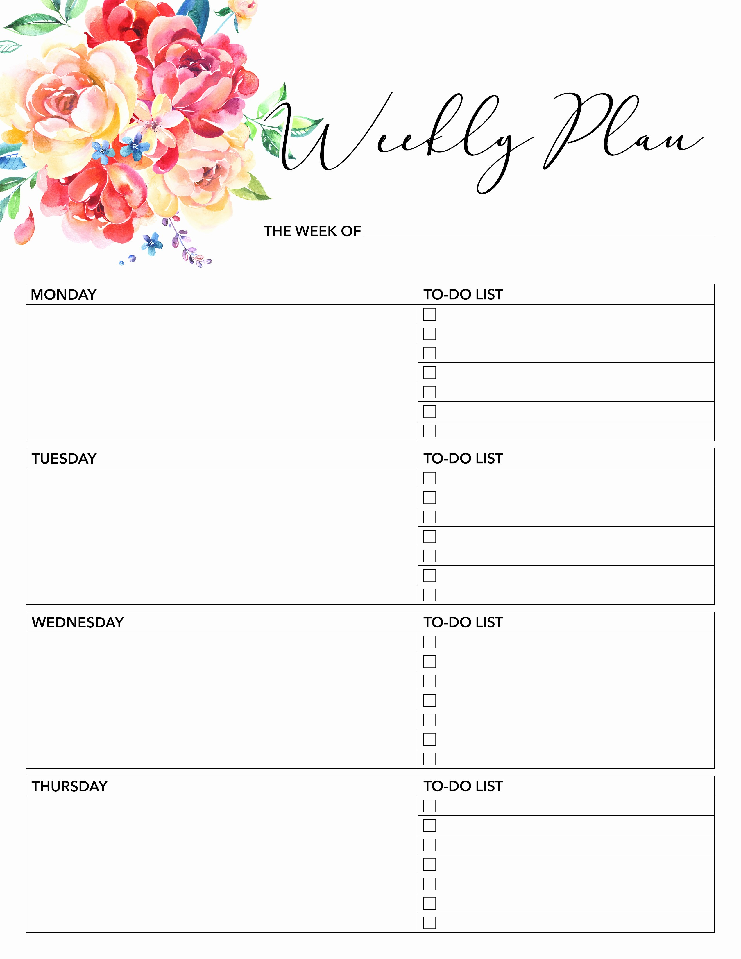 Free Printable Daily Calendar 2018 Elegant Free Printable 2018 Planner 50 Plus Printable Pages the