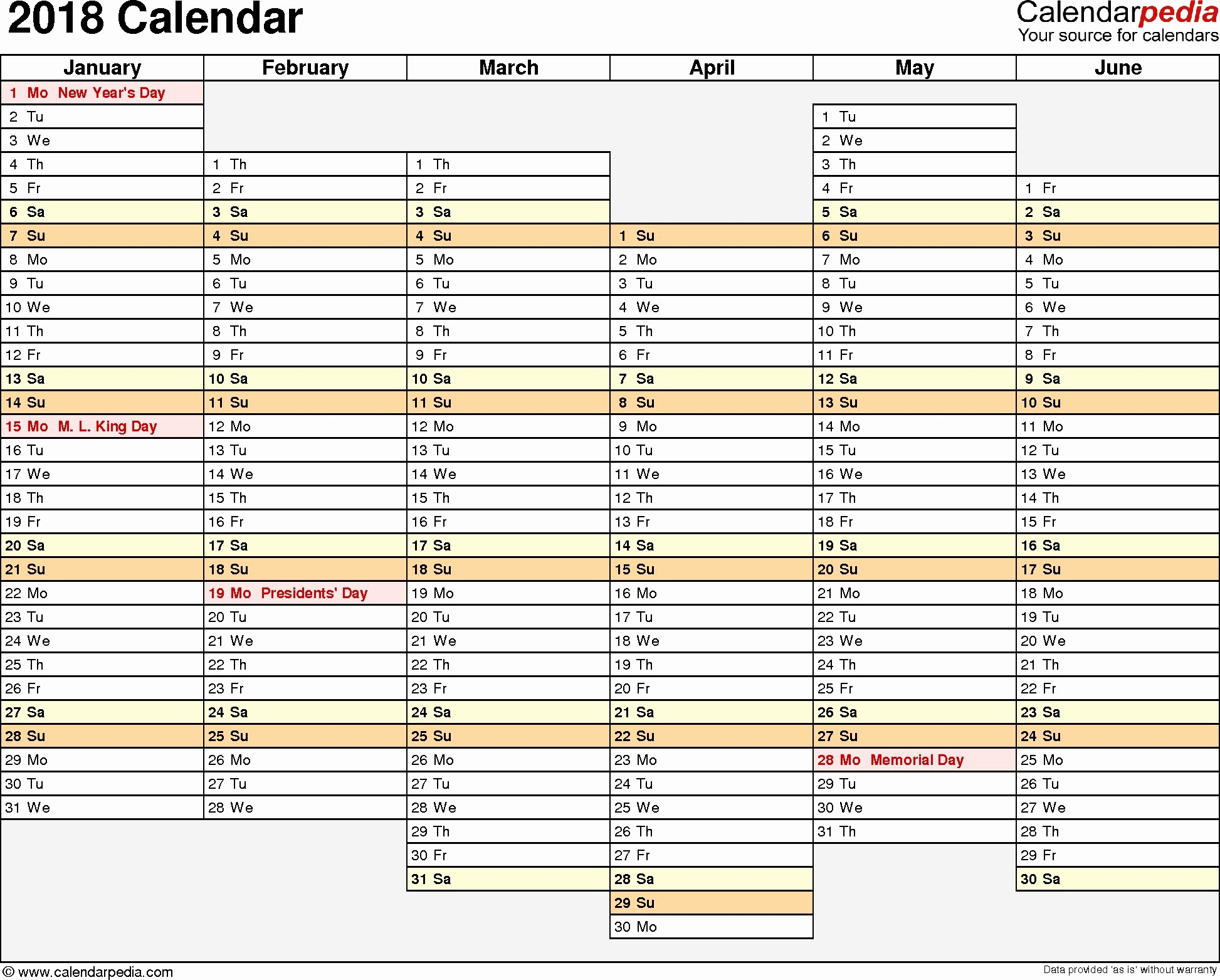 Free Printable Daily Calendar 2018 Inspirational Facts with Regard to Custom Daily Calendar 2018 Calendar