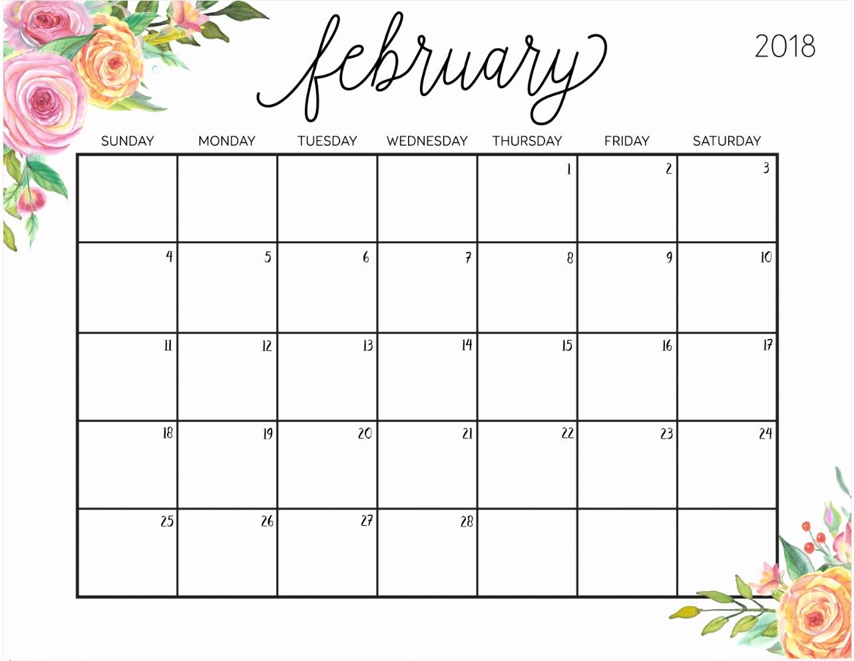 Free Printable Daily Calendar 2018 Inspirational Free Printable 2018 Calendar with Weekly Planner