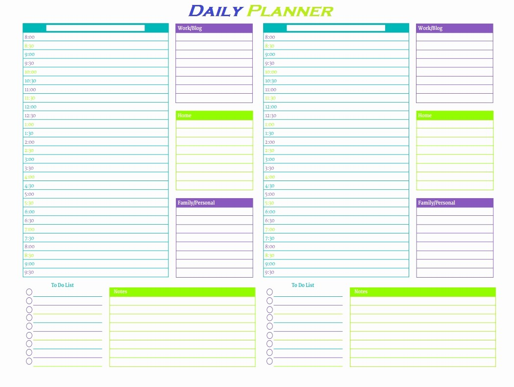 Free Printable Daily Calendar 2018 Lovely Personal Planner Printable 2018