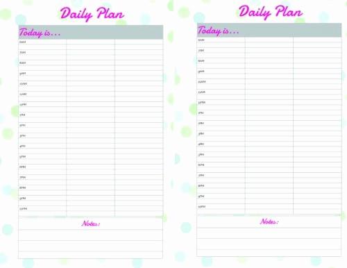 Free Printable Daily Calendar 2018 Luxury Free Printable Daily Calendar Planner Page