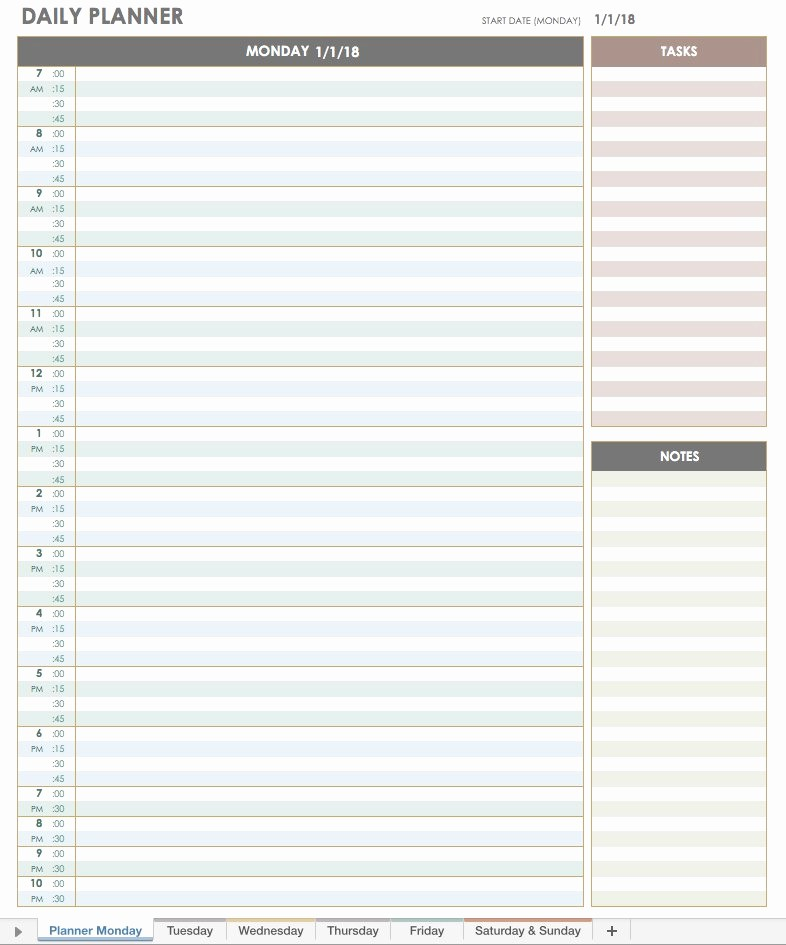 Free Printable Daily Calendar 2018 Unique Free Excel Calendar Templates