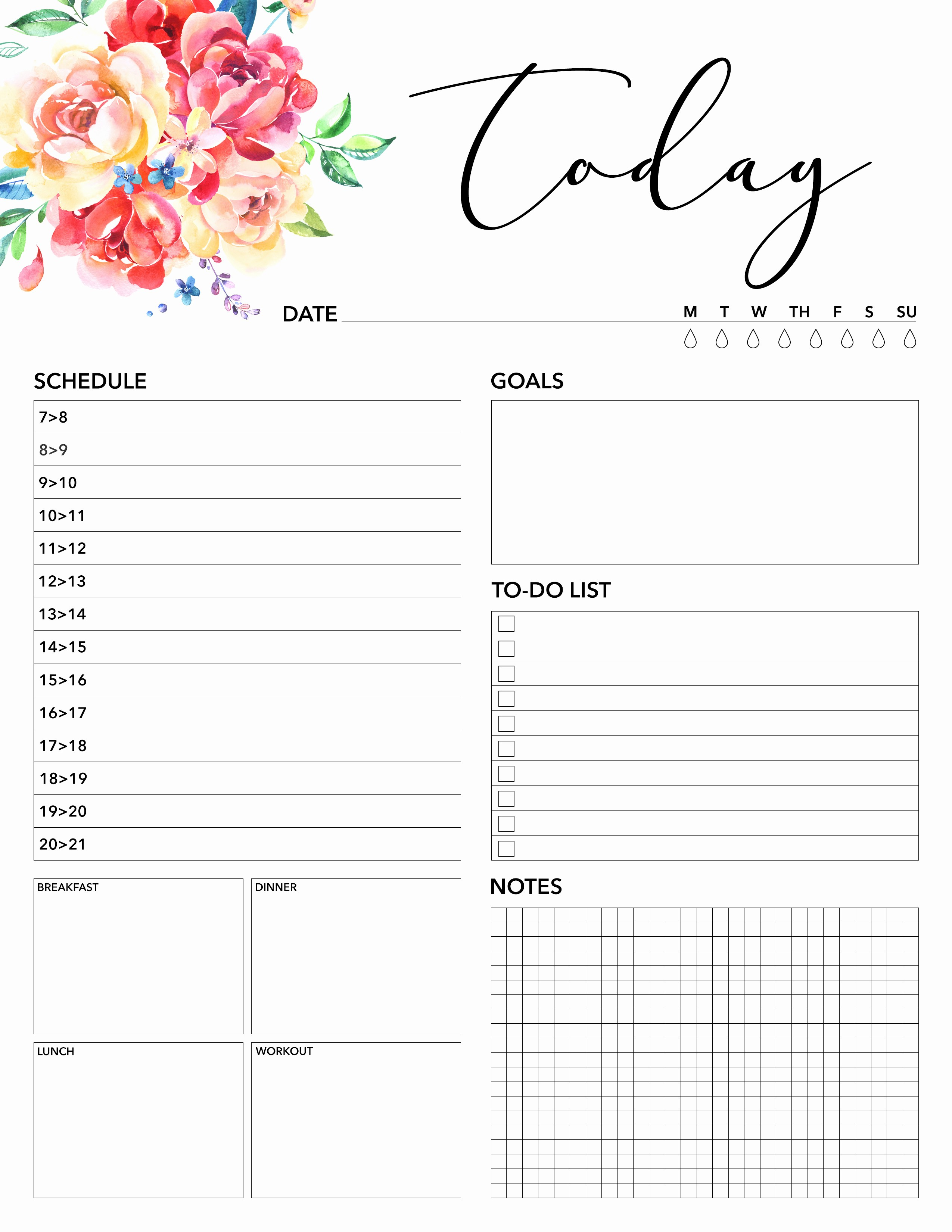 Free Printable Daily Calendar 2018 Unique Free Printable 2018 Planner 50 Plus Printable Pages the