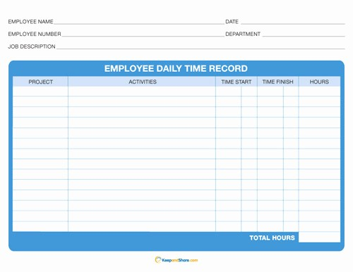 Free Printable Daily Time Sheets Best Of 6 Best Of Printable Daily Time Sheet Free