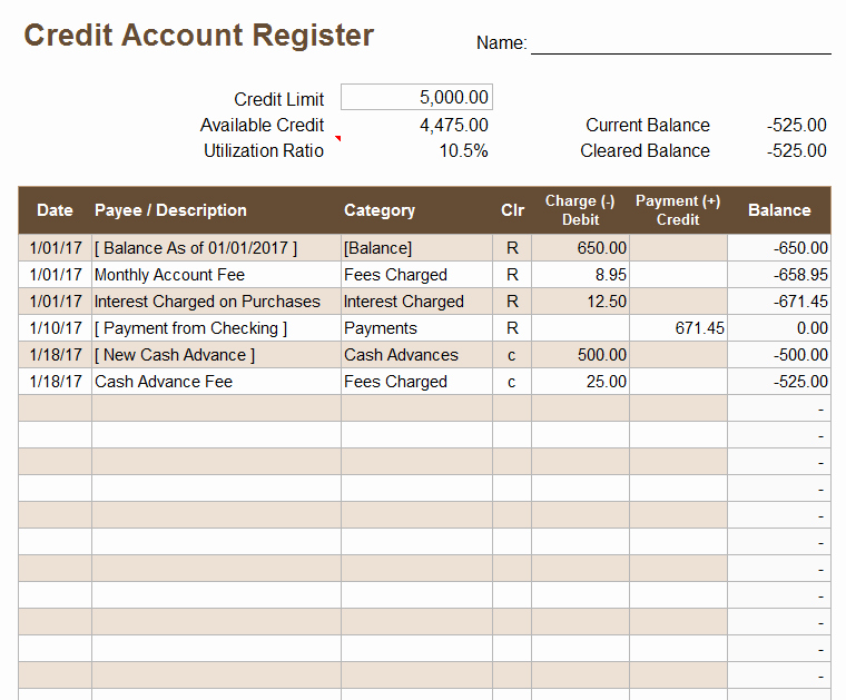 Free Printable Debit Card Register Best Of Credit Account Register Template