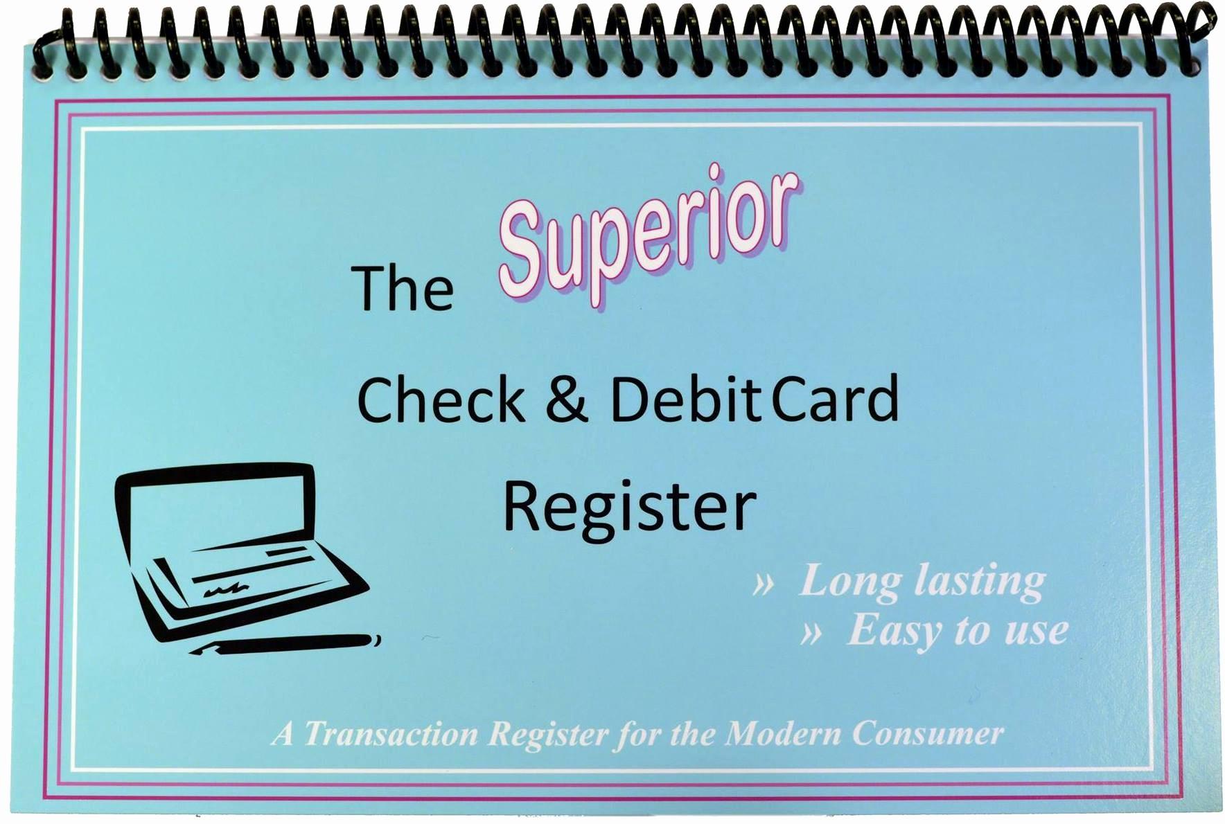 Free Printable Debit Card Register Elegant Check & Debit Card Register Wide Edition