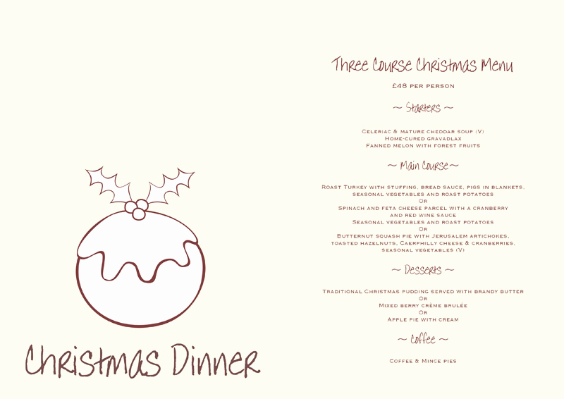 Free Printable Dinner Menu Templates Awesome 5 Best Of Free Printable Christmas Dinner Menu