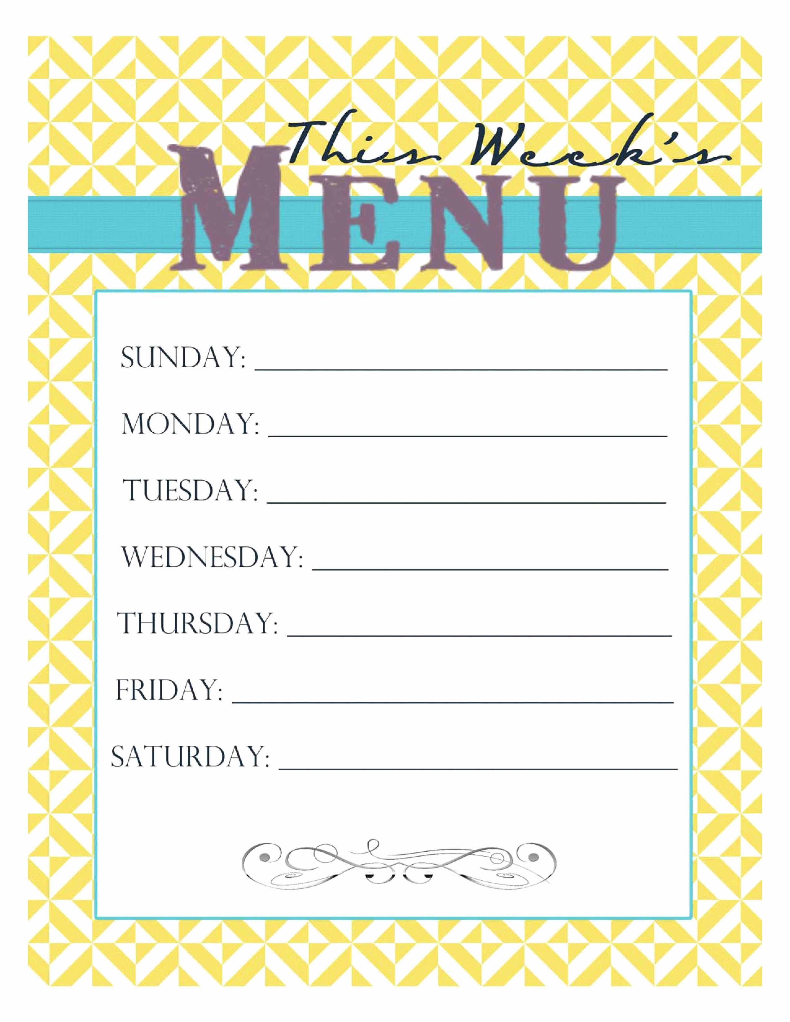 Free Printable Dinner Menu Templates Awesome Free Printable Menu Smitten Blog Designs