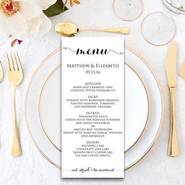 Free Printable Dinner Menu Templates Awesome Wedding Menu Wedding Menu Template Menu Cards Menu