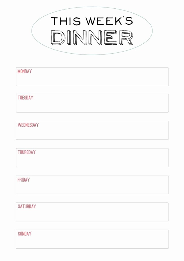 Free Printable Dinner Menu Templates Best Of Best 25 Printable Menu Ideas On Pinterest