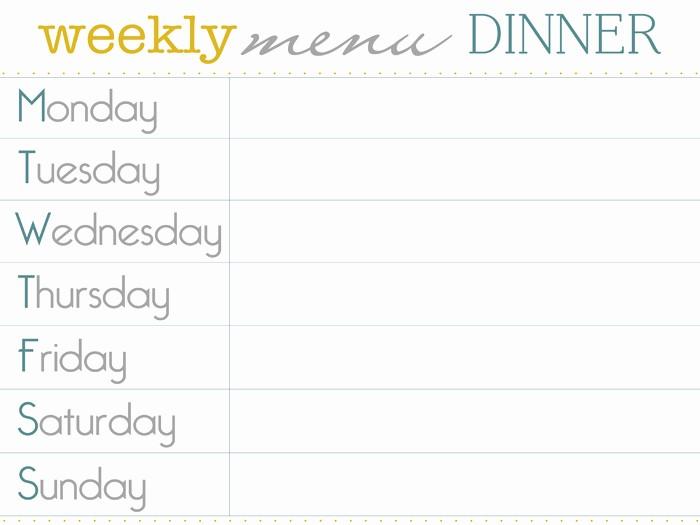 Free Printable Dinner Menu Templates Inspirational 8 Best Of Dinner Menu Planner Template Printable