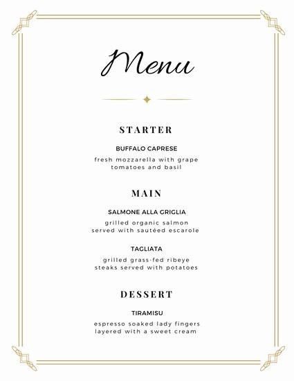 Free Printable Dinner Menu Templates Inspirational Customize 273 Wedding Menu Templates Online Canva