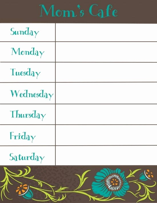 Free Printable Dinner Menu Templates Luxury 17 Best Ideas About Meal Planning Templates On Pinterest