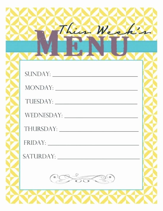 Free Printable Dinner Menu Templates New 30 Family Meal Planning Templates Weekly Monthly Bud