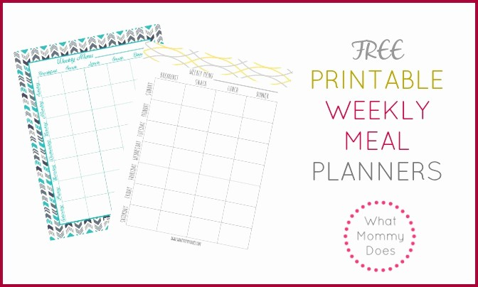 Free Printable Dinner Menu Templates New Free Printable Weekly Meal Plan Template Super Cute Menu