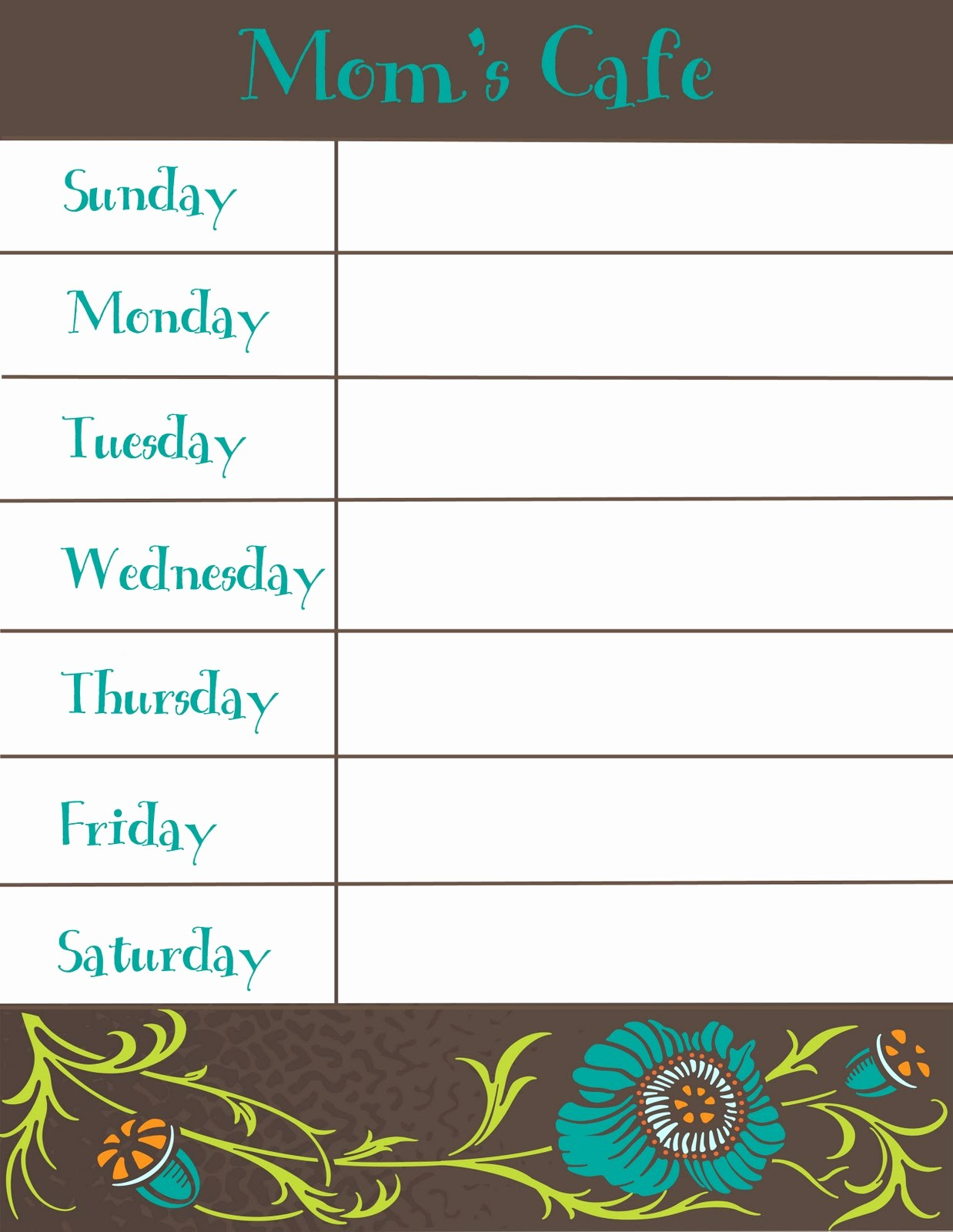 Free Printable Dinner Menu Templates New therapeutic Crafting Weekly Menu Printable
