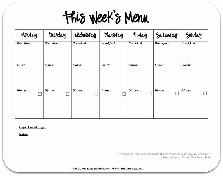 Free Printable Dinner Menu Templates Unique 12 Best Menu Template Images On Pinterest