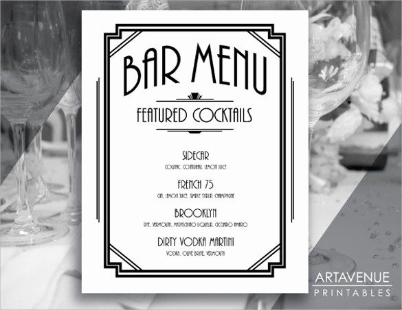 Free Printable Drink Menu Template Awesome Bar Menu Template 24 Download Documents In Psd Word