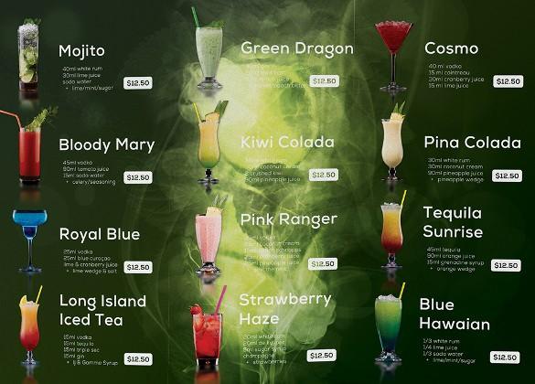 Free Printable Drink Menu Template Beautiful Drink Menu Templates – 30 Free Psd Eps Documents