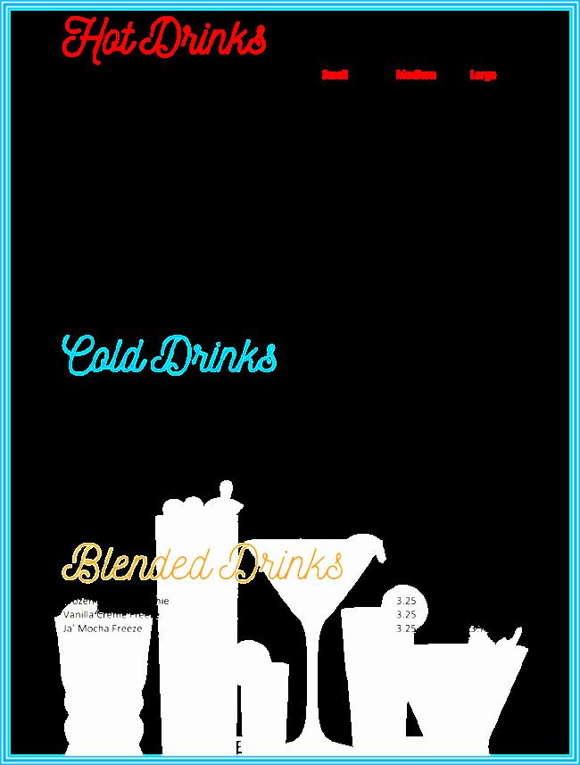 Free Printable Drink Menu Template Best Of Drink Menu Template 5 Best Drink Menu formats