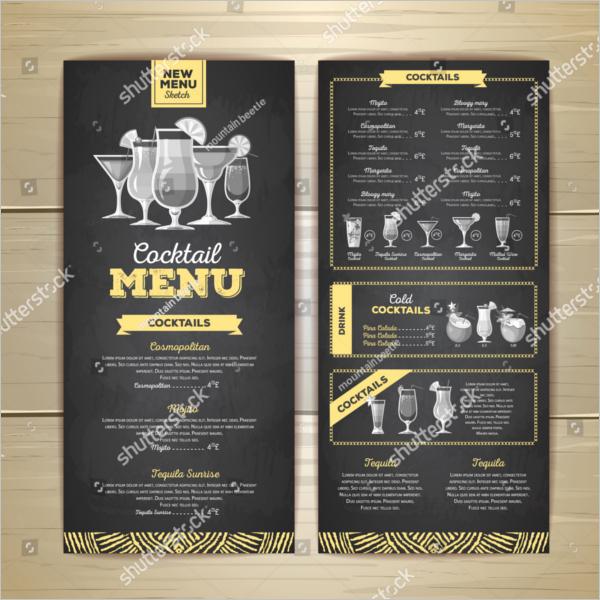 Free Printable Drink Menu Template Luxury 54 Drink Menu Templates Free Psd Word Design Ideas