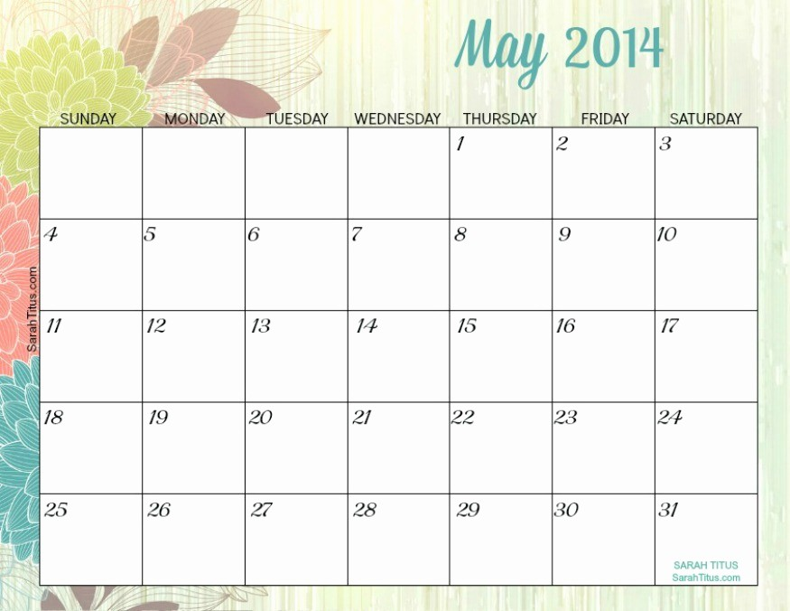 Free Printable Editable Calendar 2016 Awesome 6 Best Of Editable May 2015 Monthly Calendar