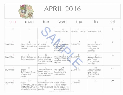 Free Printable Editable Calendar 2016 Best Of Free Editable Printable April 2016 Cleaning Calendar