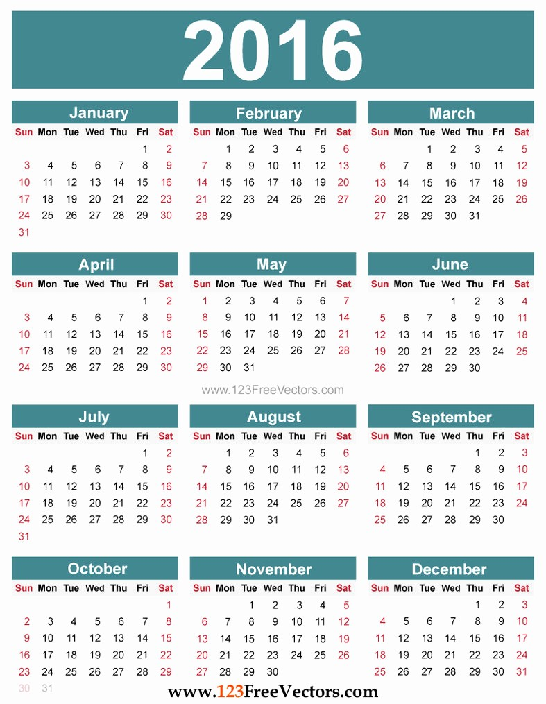 Free Printable Editable Calendar 2016 Luxury Free Editable 2016 Calendar by 123freevectors On Deviantart
