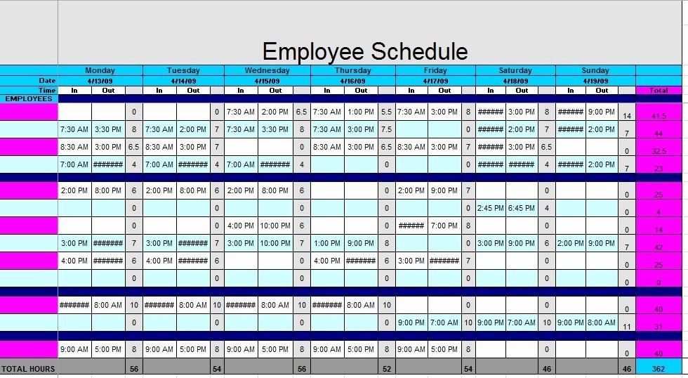 Free Printable Employee Schedule Template Best Of 12 Free Sample Staff Schedule Templates Printable Samples