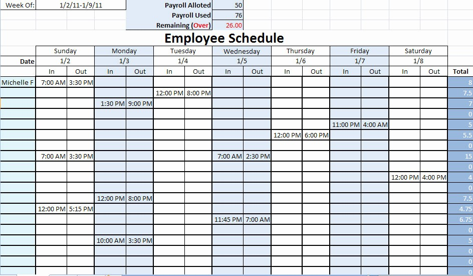 Free Printable Employee Schedule Template Best Of Nursing Staff Schedule Template