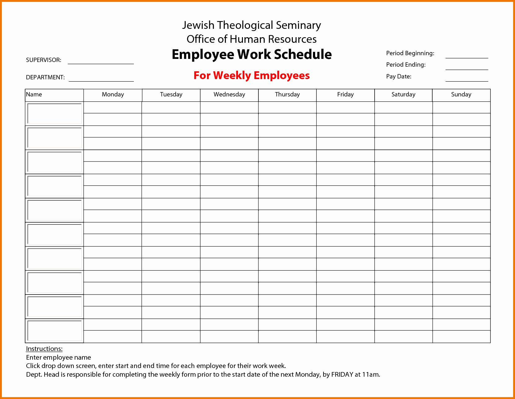 "Free Printable Employee Schedule Template Best Of Search Results for ""a 6 Week Calendar Template"" – Calendar"