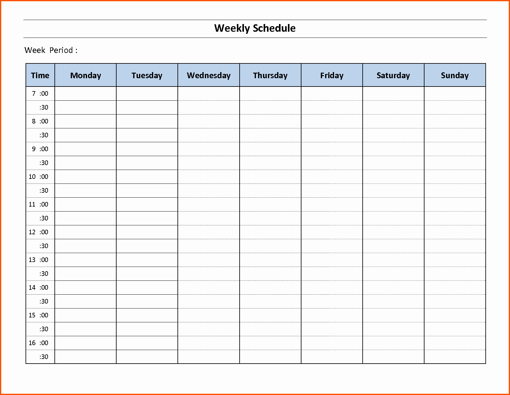 Free Printable Employee Schedule Template Luxury Printable Blank Weekly Employee Schedule to Pin