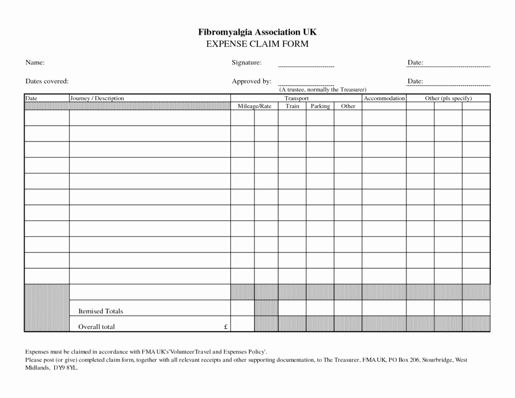 Free Printable Expense Report forms Fresh Blank Expense Report Mughals