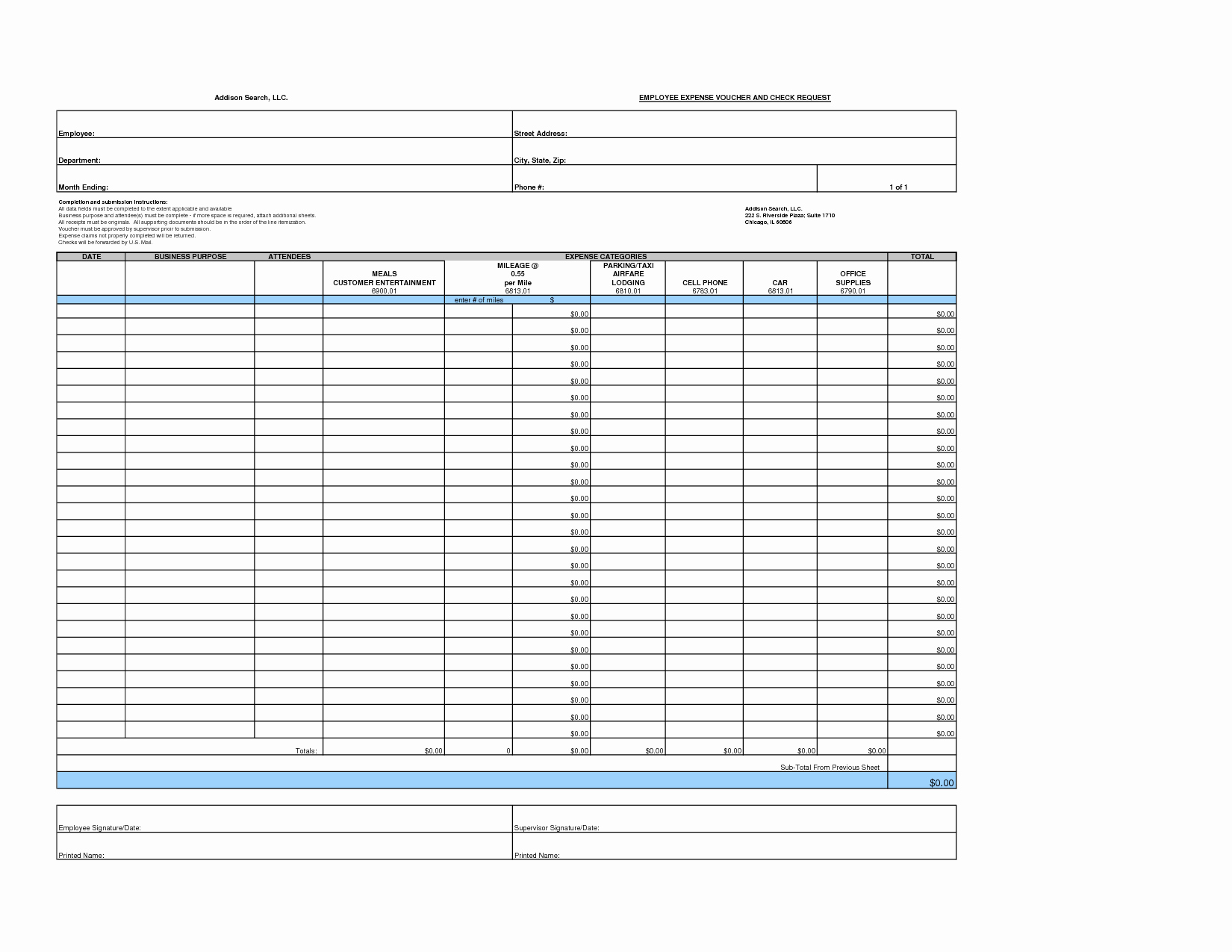 Free Printable Expense Report forms Luxury 6 Best Of Printable Blank Expense Report Blank