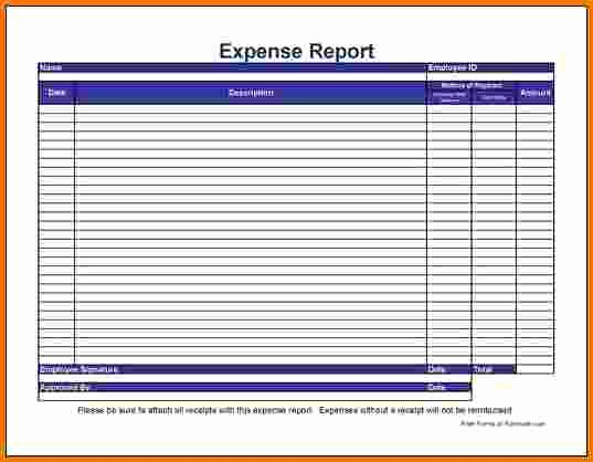 Free Printable Expense Report forms Luxury 7 Expense Report form
