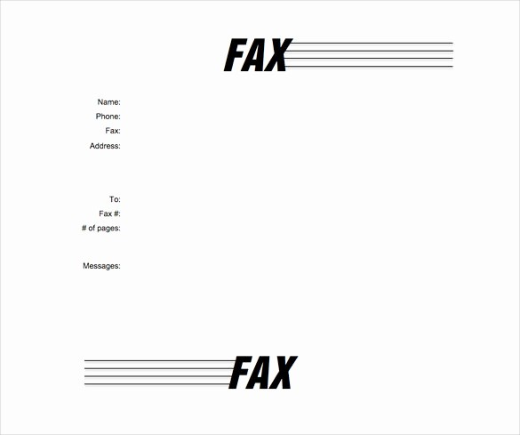 Free Printable Fax Cover Letter Elegant 7 Fax Cover Letter Templates Free Sample Example