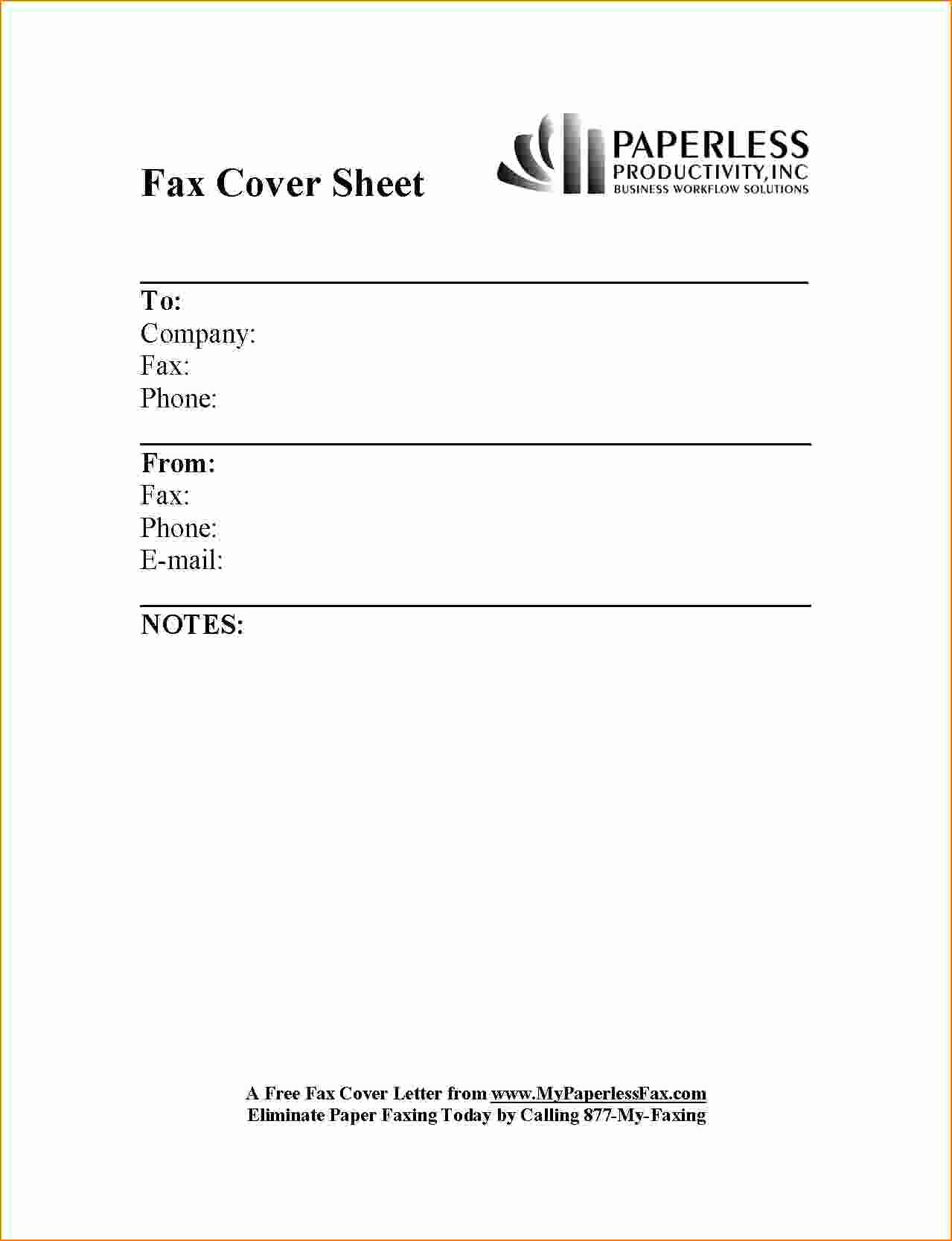 Free Printable Fax Cover Letter Unique 6 Example Fax Cover Sheet