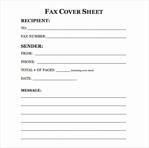 Free Printable Fax Cover Page Inspirational Fax Cover Sheet 11 Free Pro Templates You Can Use Right