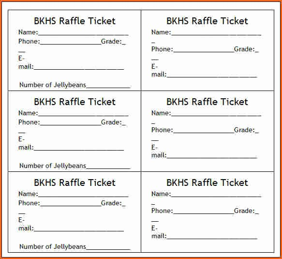 Free Printable Fundraiser Ticket Template Elegant 10 Raffle Ticket Templates Bud Template Letter