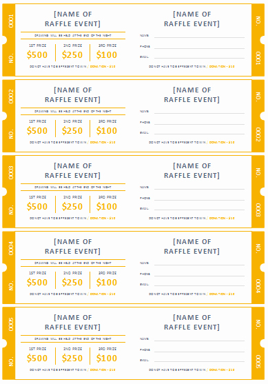 Free Printable Fundraiser Ticket Template Fresh 45 Raffle Ticket Templates