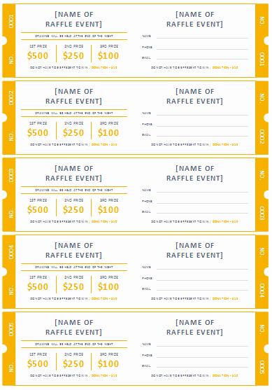 Free Printable Fundraiser Ticket Template Fresh 45 Raffle Ticket Templates