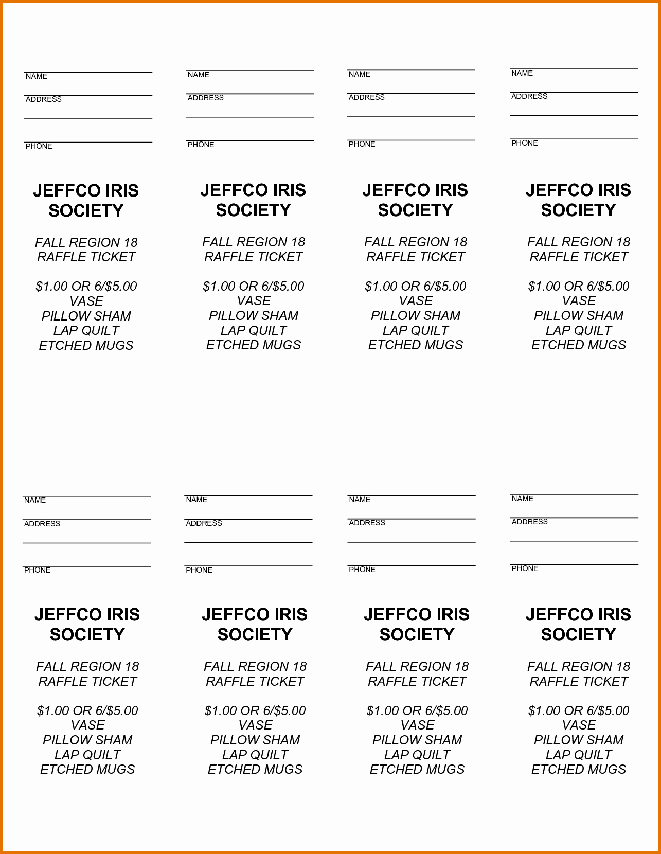 Free Printable Fundraiser Ticket Template Lovely 8 Free Raffle Ticket Template for Wordreference Letters