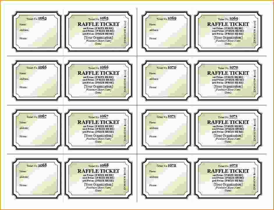 Free Printable Fundraiser Ticket Template New 3 Printable Raffle Ticket Template