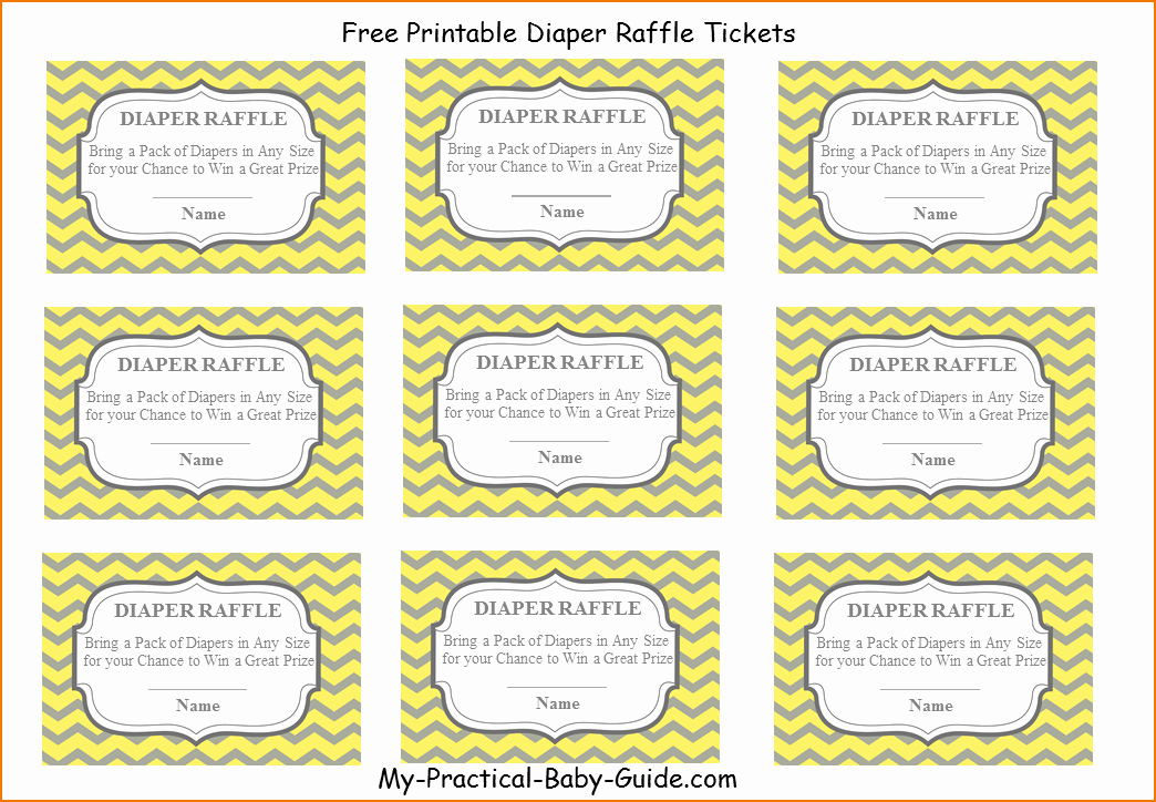 Free Printable Fundraiser Ticket Template New 4 Printable Raffle Tickets