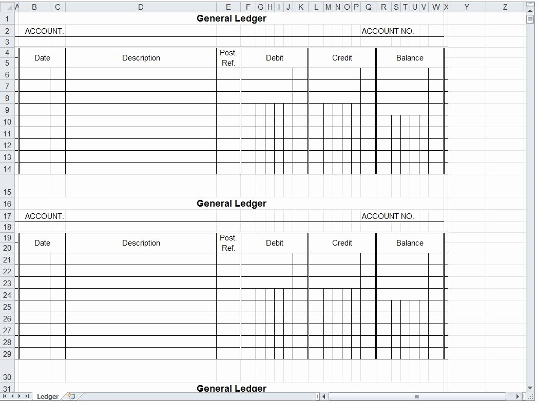 Free Printable General Ledger Template Best Of General Ledger Spreadsheet