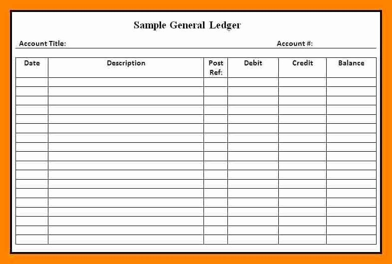 Free Printable General Ledger Template Elegant Accounting Ledgers Templatesintable Accounting Ledger