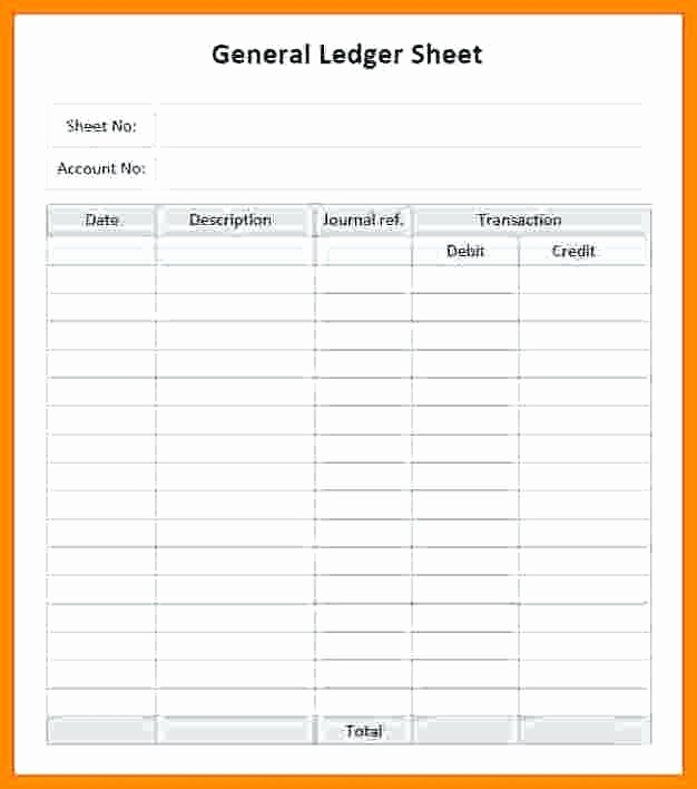 Free Printable General Ledger Template Inspirational Accounting Ledger Template General Paper Download Working