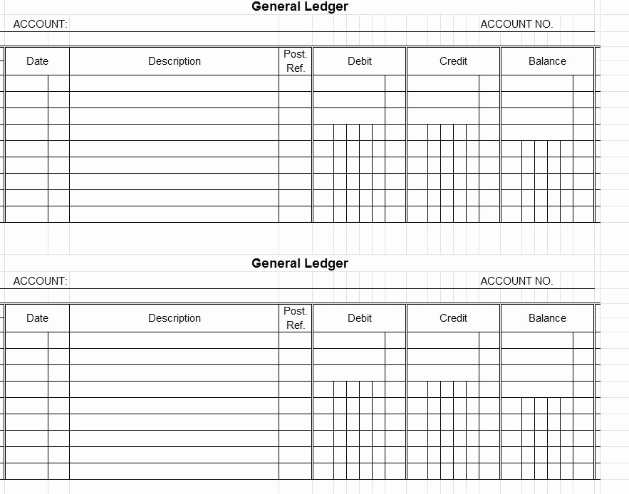 Free Printable General Ledger Template Inspirational General Ledger Template