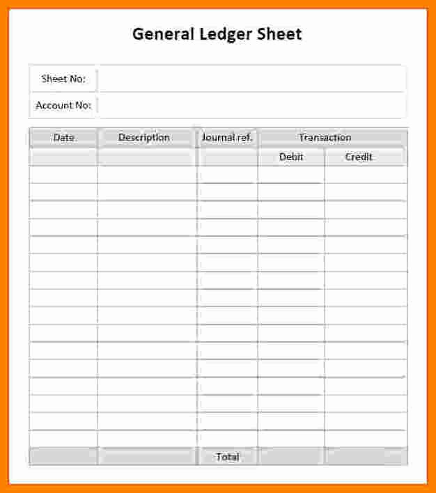 Free Printable General Ledger Template Lovely 7 Printable Accounting Ledger Paper